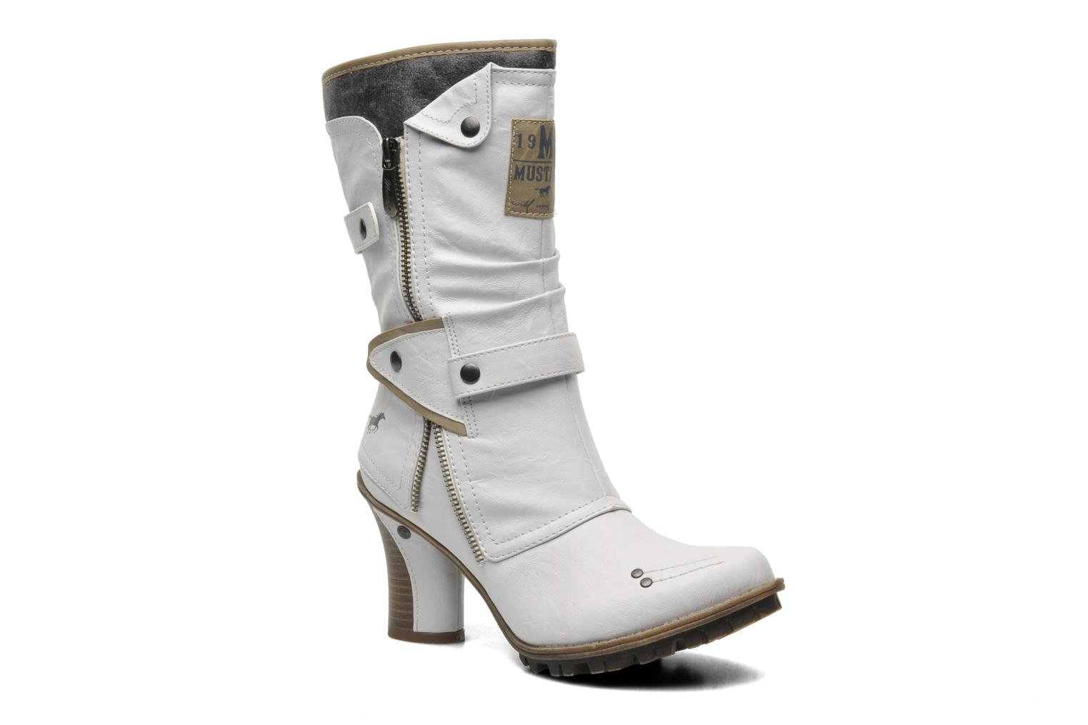 Marques Chaussure femme Mustang shoes femme Lazlo Offwhite