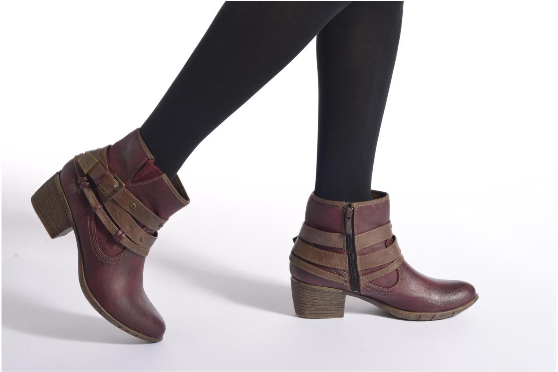 Bottines et boots Mustang shoes Heïra Bleu vue bas / vue portée sac