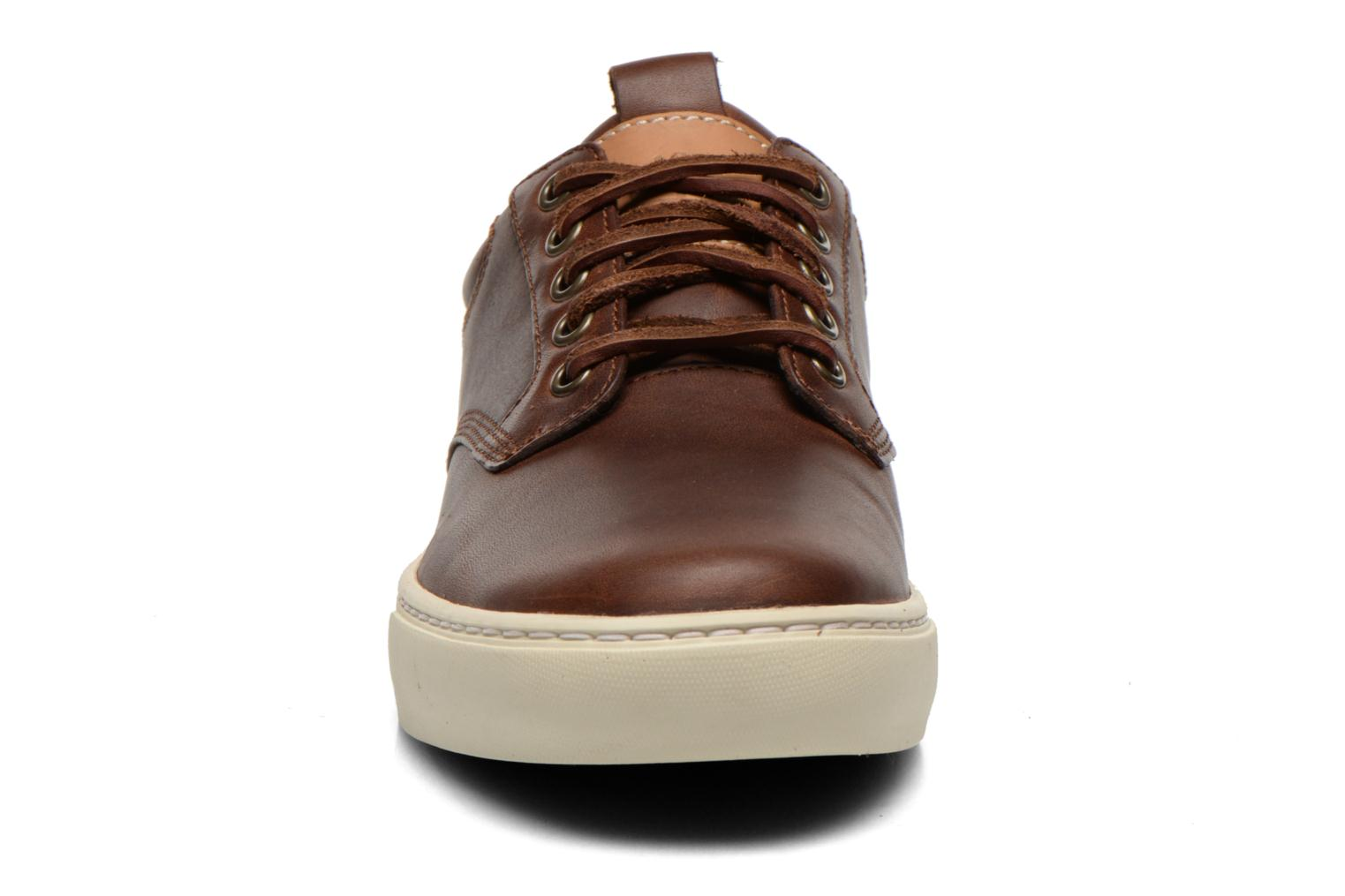 Baskets Timberland Earthkeepers Adventure Cupsole Leather Oxford Marron vue portées chaussures