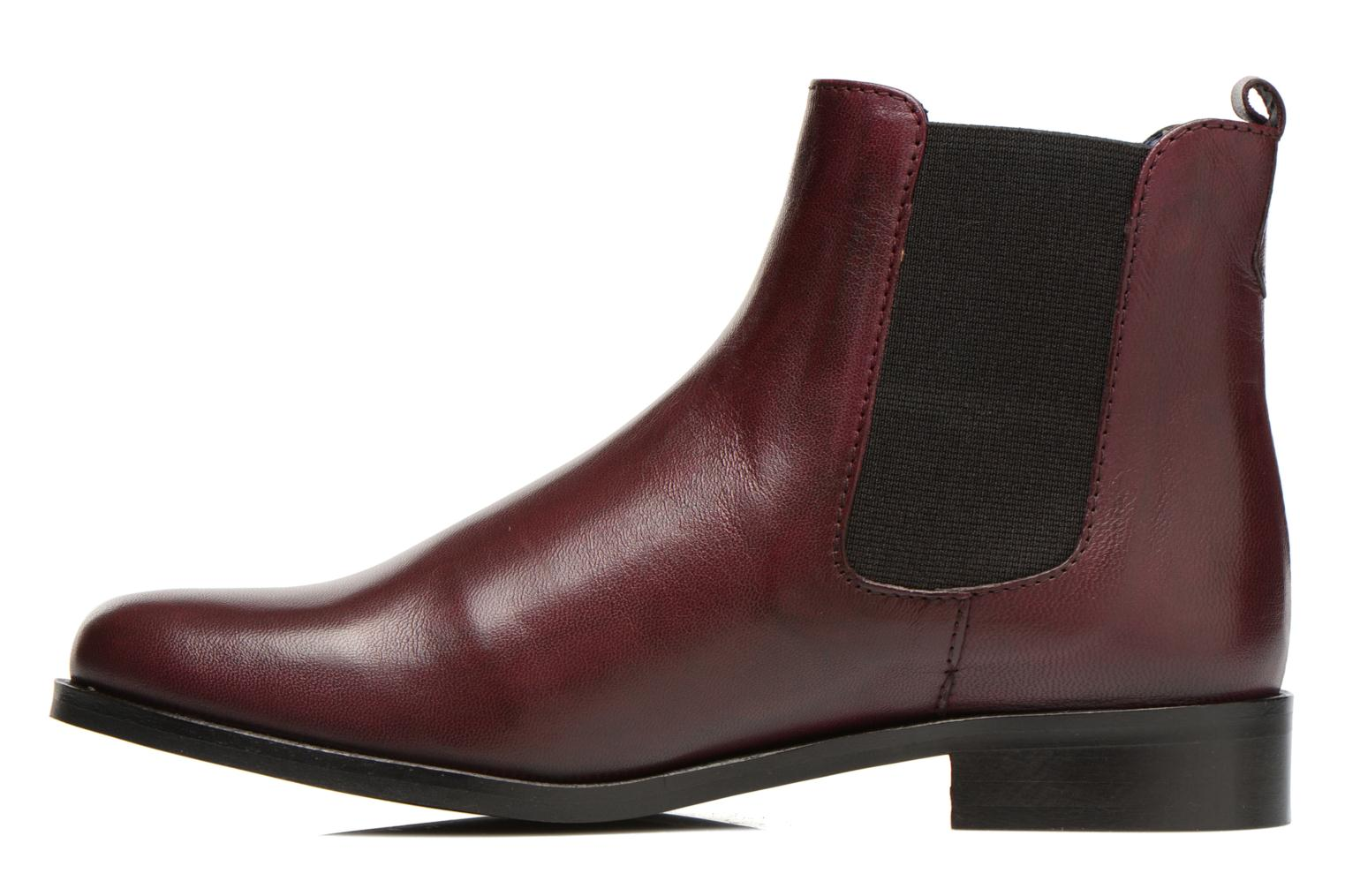 Ankle boots PintoDiBlu Broche Burgundy front view