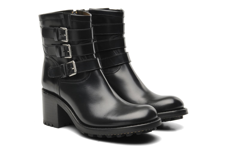 Ankle boots Free Lance Biker 7 Boots 3 straps Black 3/4 view