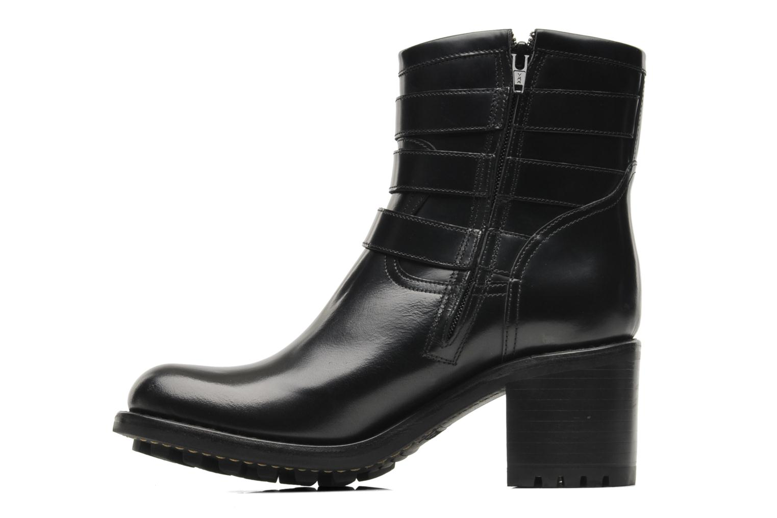 Ankle boots Free Lance Biker 7 Boots 3 straps Black front view