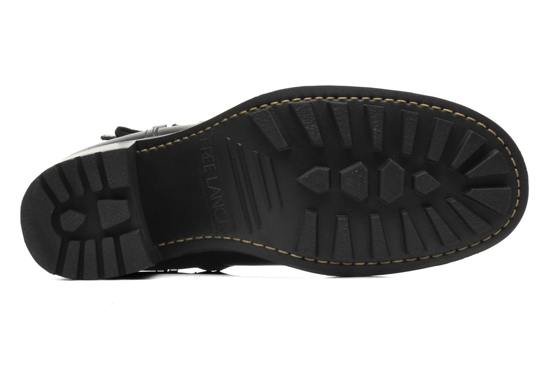 Bottines et boots Free Lance Biker 7 Boots 3 straps Noir vue haut