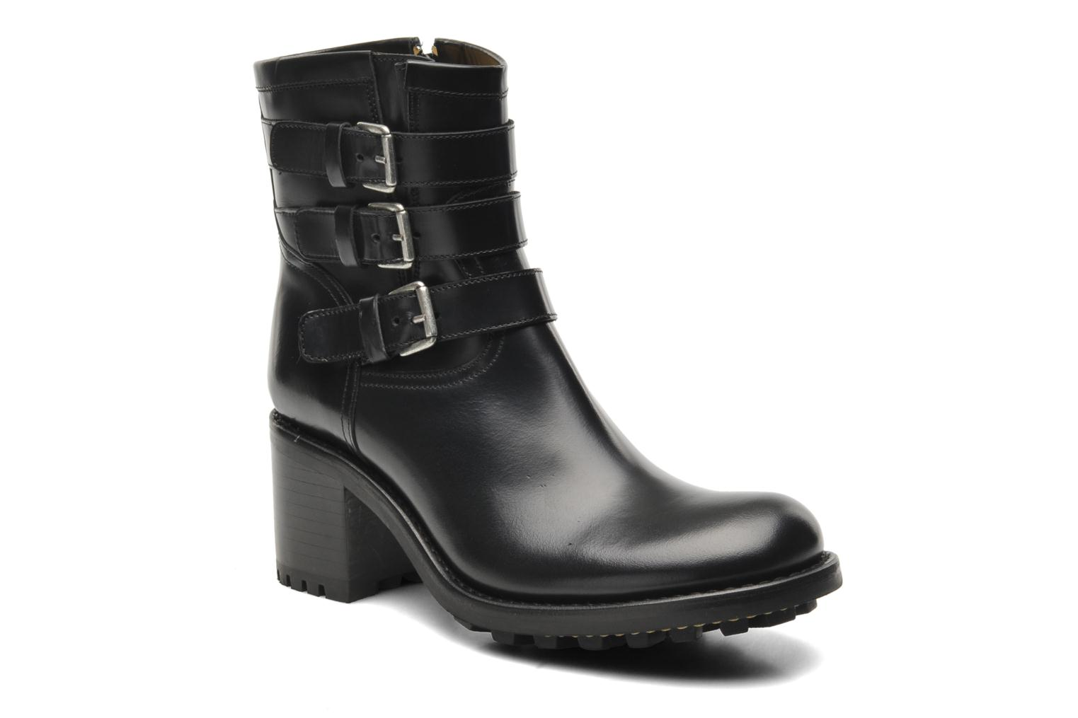 Ankle boots Free Lance Biker 7 Boots 3 straps Black detailed view/ Pair view