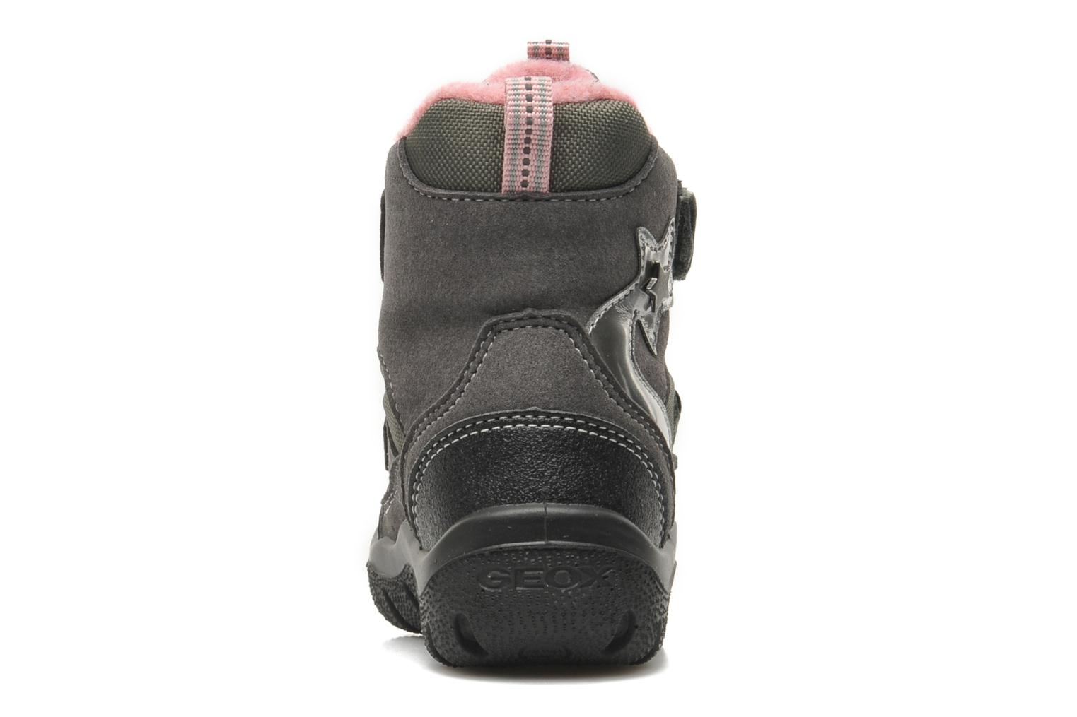 Ankle boots Geox B FROSTY B GIRL ABX Grey view from the right