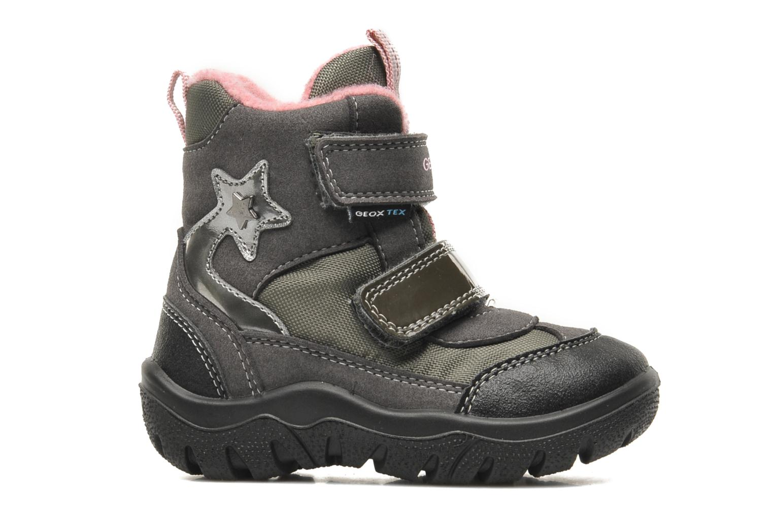 Ankle boots Geox B FROSTY B GIRL ABX Grey back view