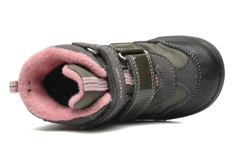 Boots en enkellaarsjes Geox B FROSTY B GIRL ABX Grijs links