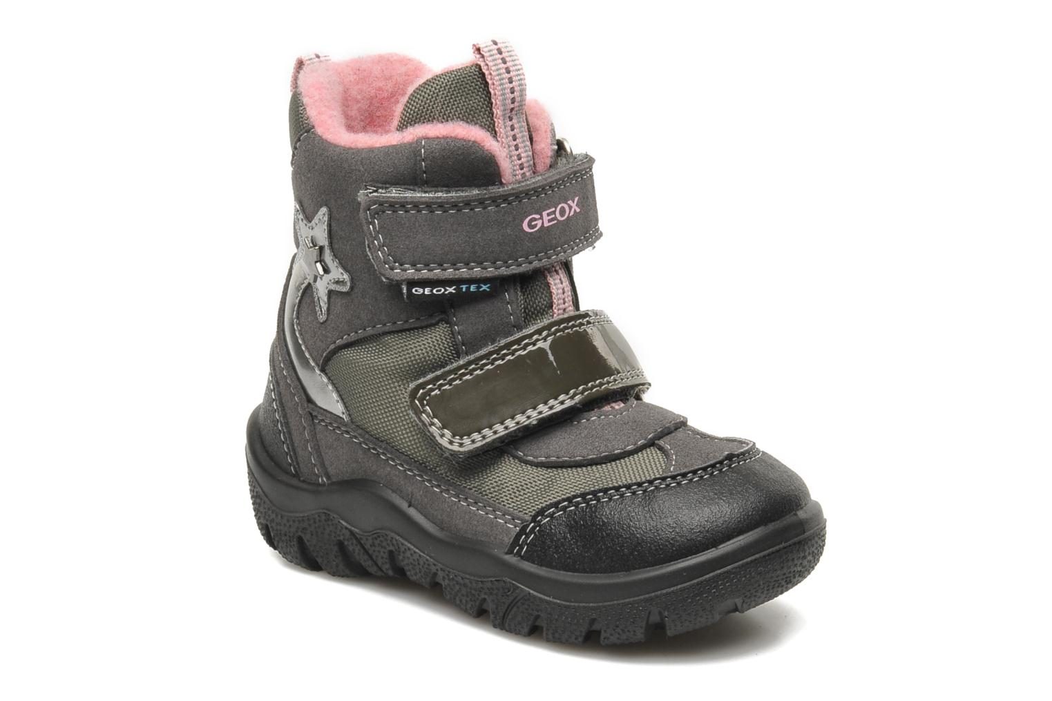 Ankle boots Geox B FROSTY B GIRL ABX Grey detailed view/ Pair view