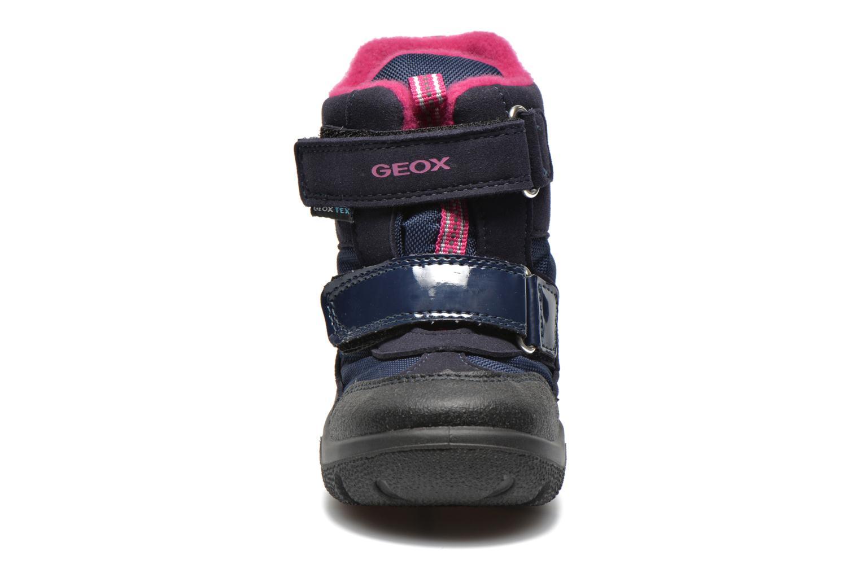 Bottines et boots Geox B FROSTY B GIRL ABX Bleu vue portées chaussures