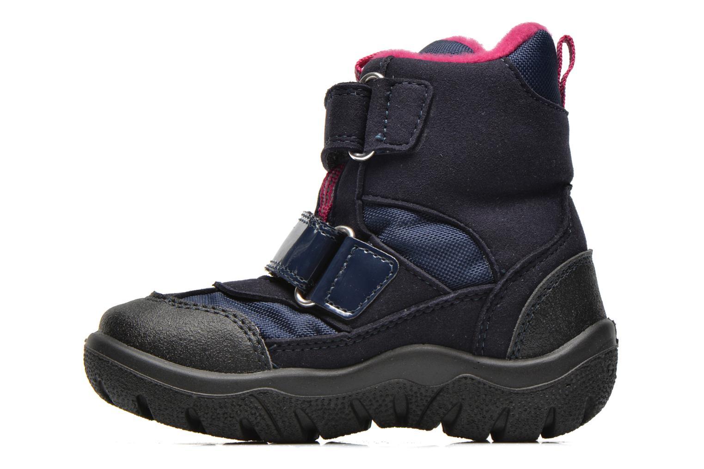Bottines et boots Geox B FROSTY B GIRL ABX Bleu vue face