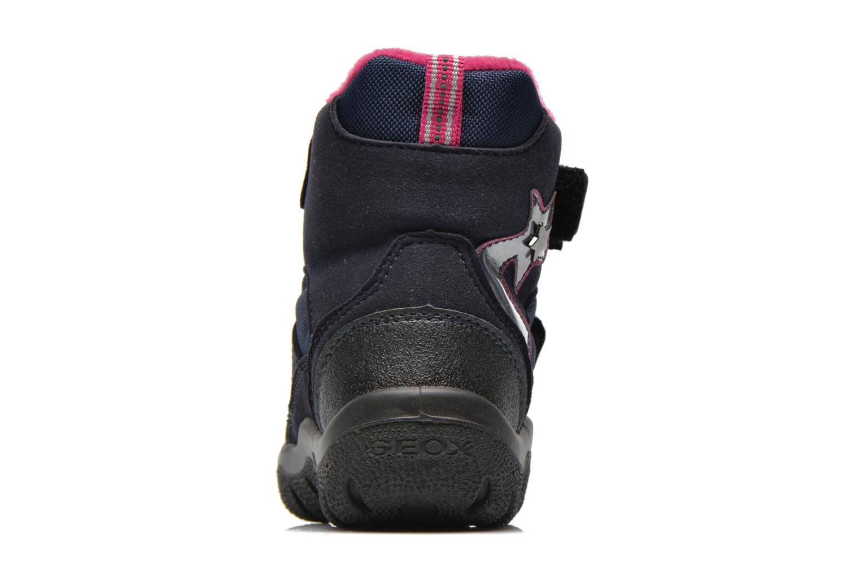 Bottines et boots Geox B FROSTY B GIRL ABX Bleu vue droite