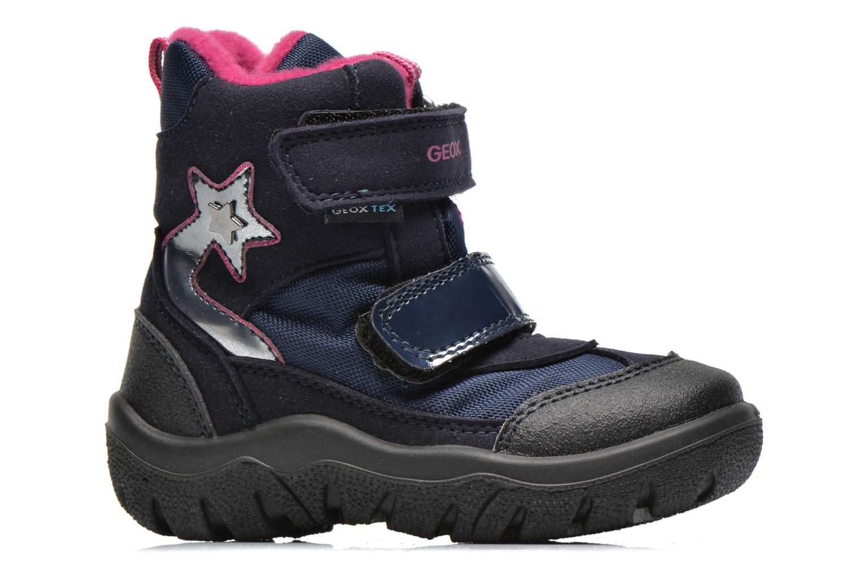 Bottines et boots Geox B FROSTY B GIRL ABX Bleu vue derrière