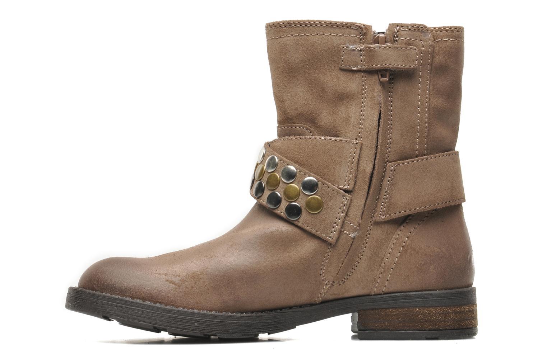 Stiefeletten & Boots Geox JR SOFIA B braun ansicht von vorne