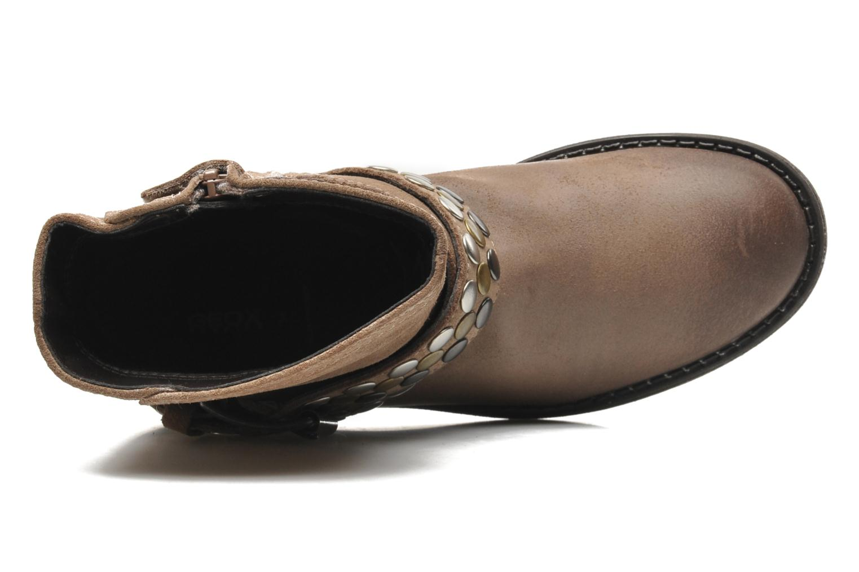 Stiefeletten & Boots Geox JR SOFIA B braun ansicht von links