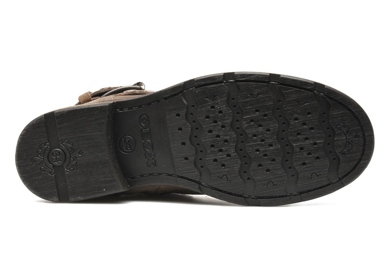 Stiefeletten & Boots Geox JR SOFIA B braun ansicht von oben