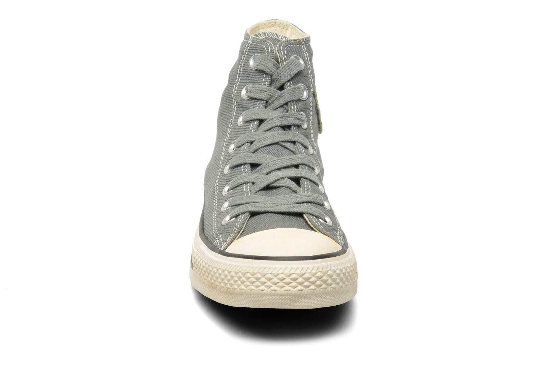 Sneaker Converse Chuck Taylor Vintage Washed Twill Hi M grau schuhe getragen