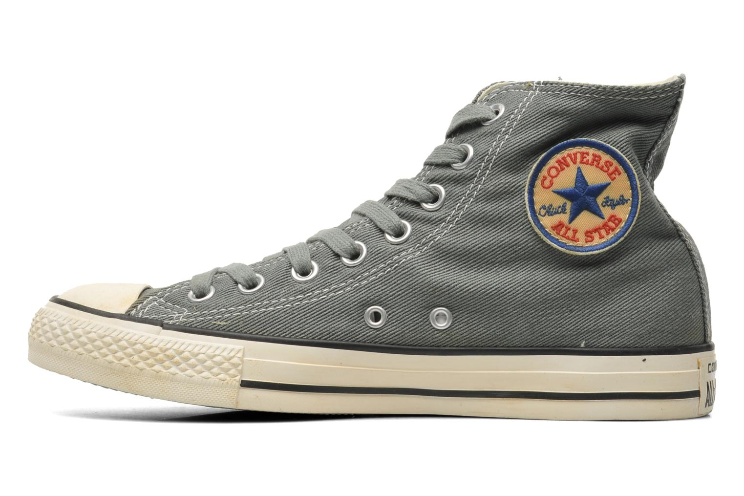 Baskets Converse Chuck Taylor Vintage Washed Twill Hi M Gris vue face