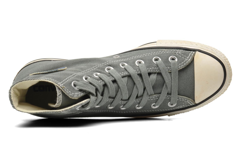 Sneaker Converse Chuck Taylor Vintage Washed Twill Hi M grau ansicht von links