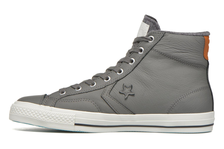 Baskets Converse Star Player Leather Hi M Gris vue face