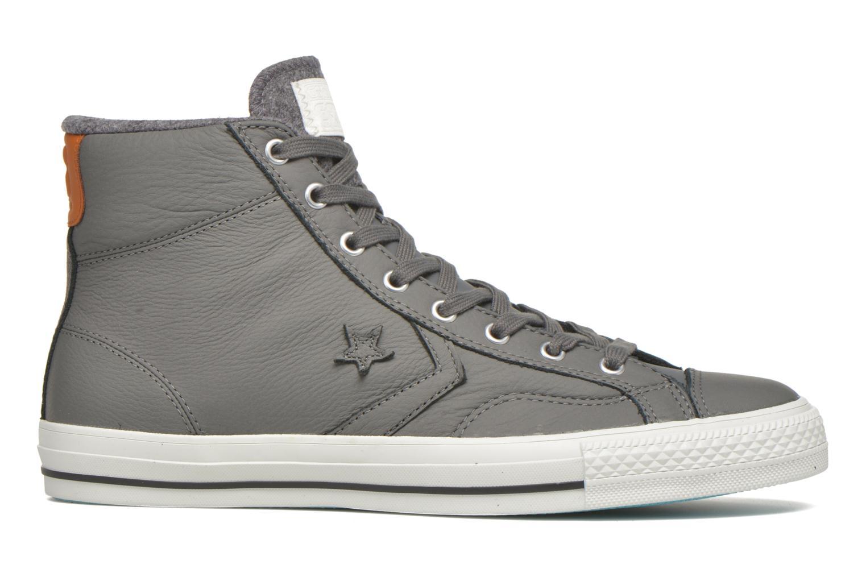 Sneaker Converse Star Player Leather Hi M grau ansicht von hinten