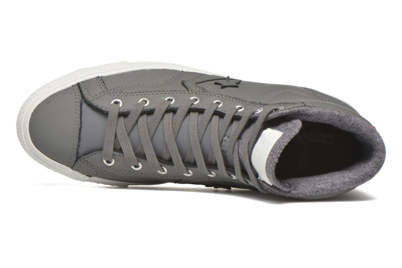 Baskets Converse Star Player Leather Hi M Gris vue gauche