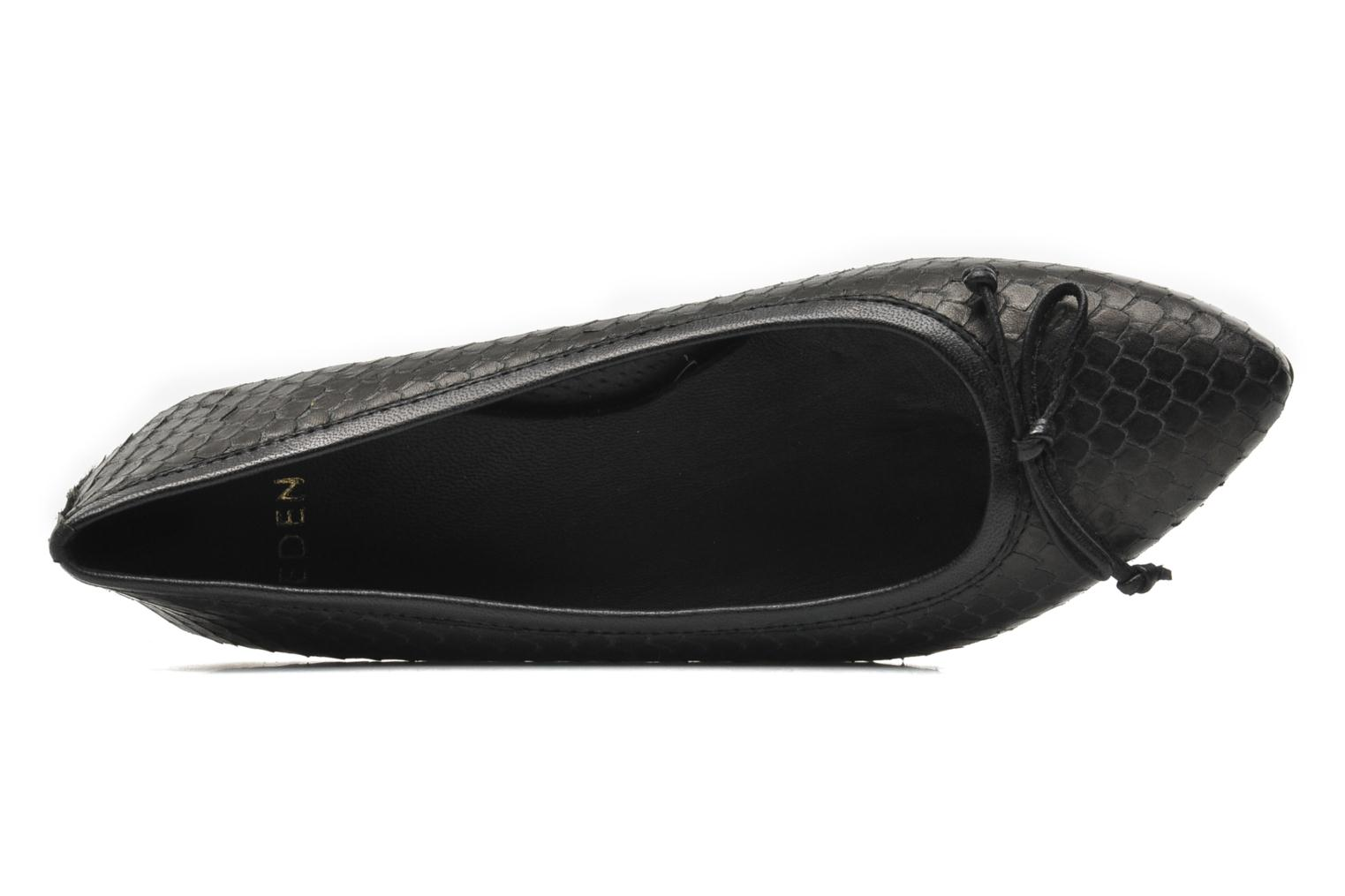 Ballet pumps Eden BARBARA Black view from the left