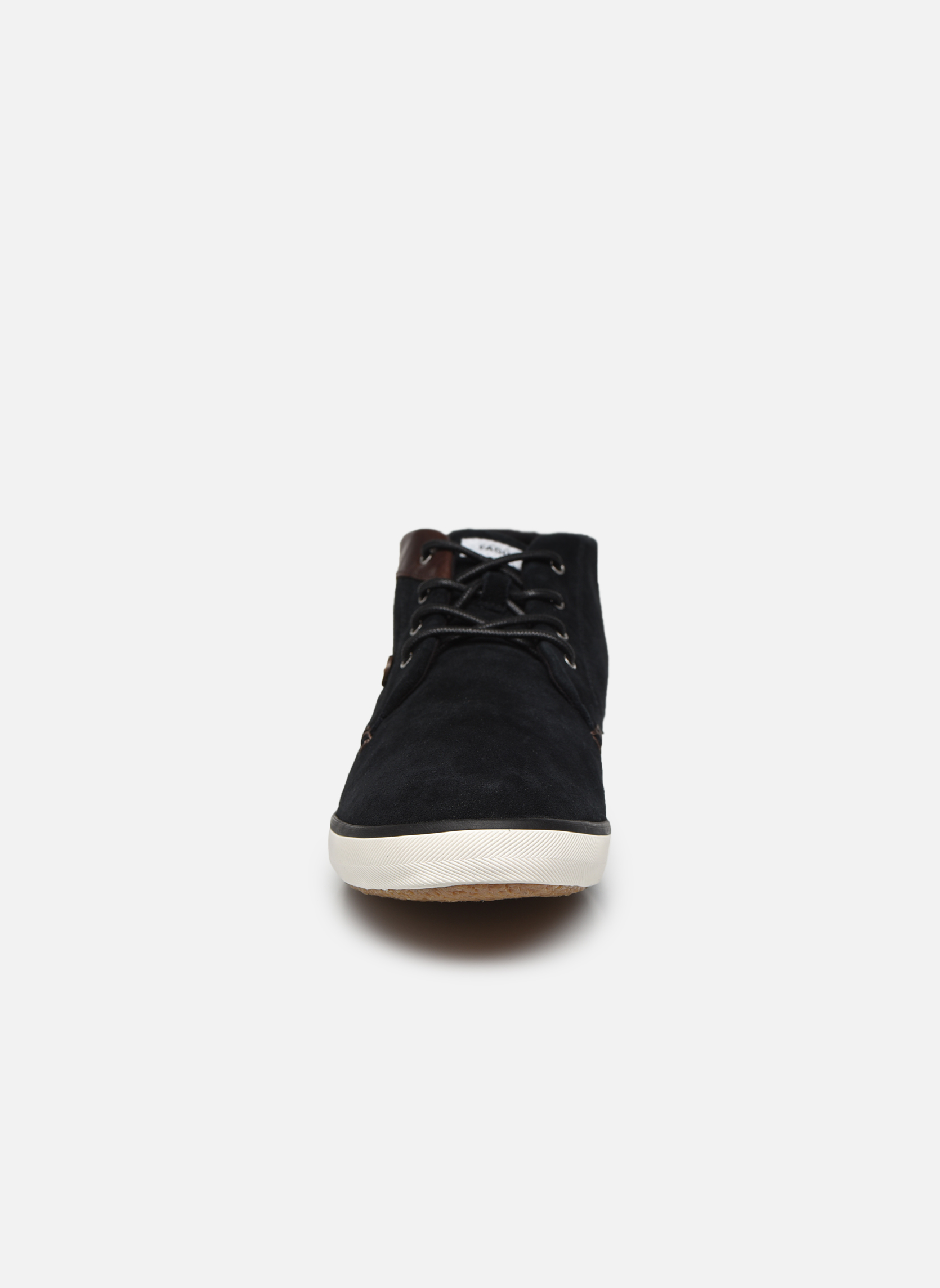 Trainers Faguo Wattle Suede Black model view