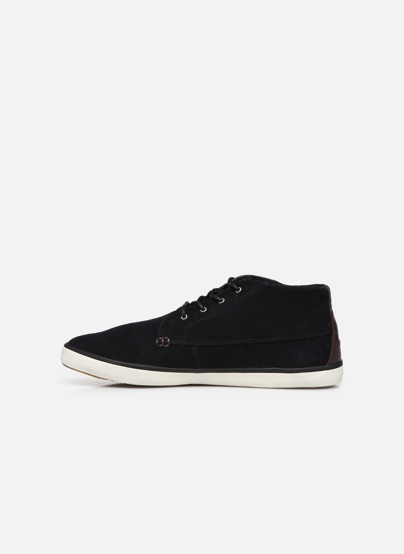 Trainers Faguo Wattle Suede Black front view