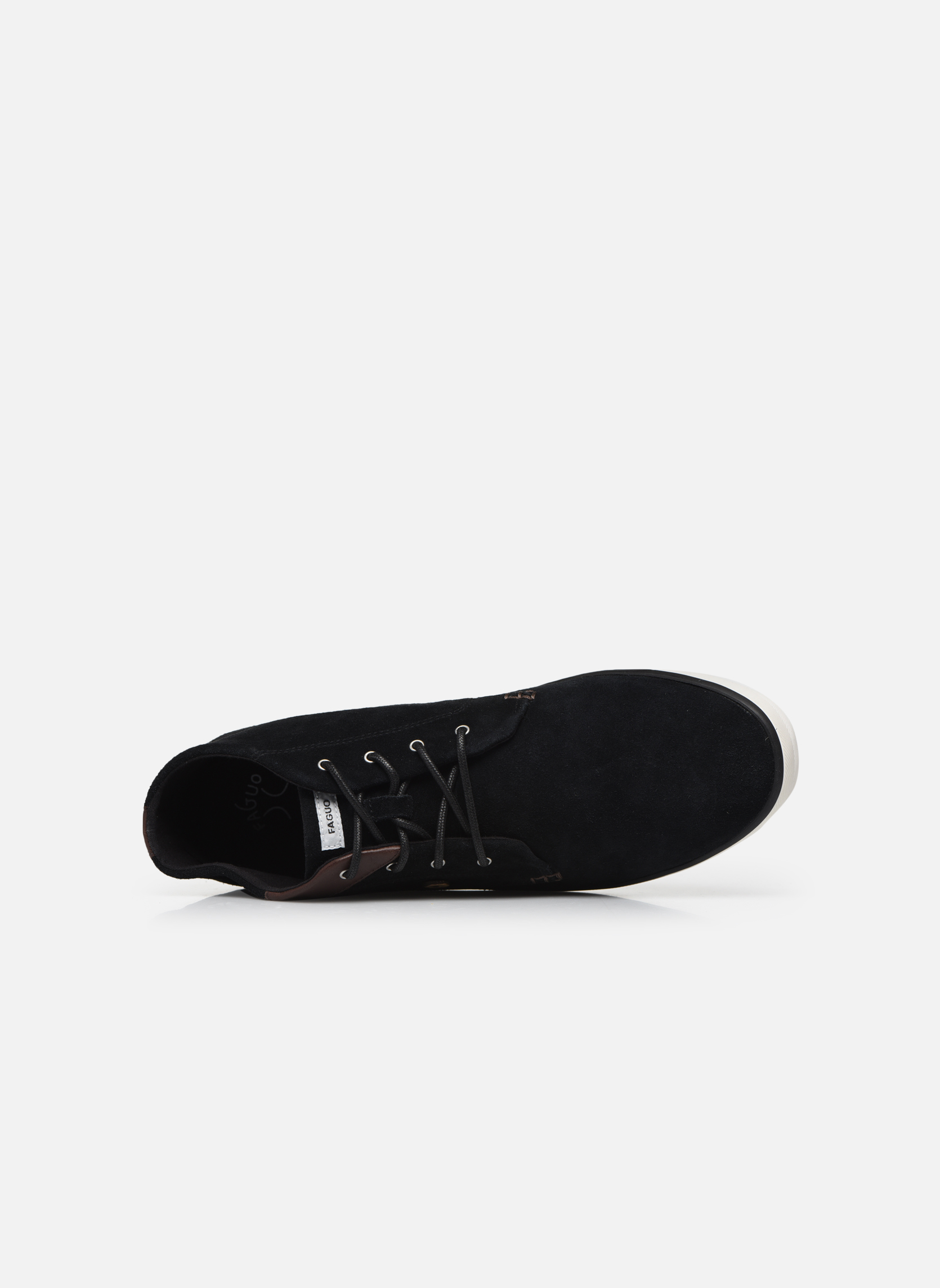 Trainers Faguo Wattle Suede Black view from the left