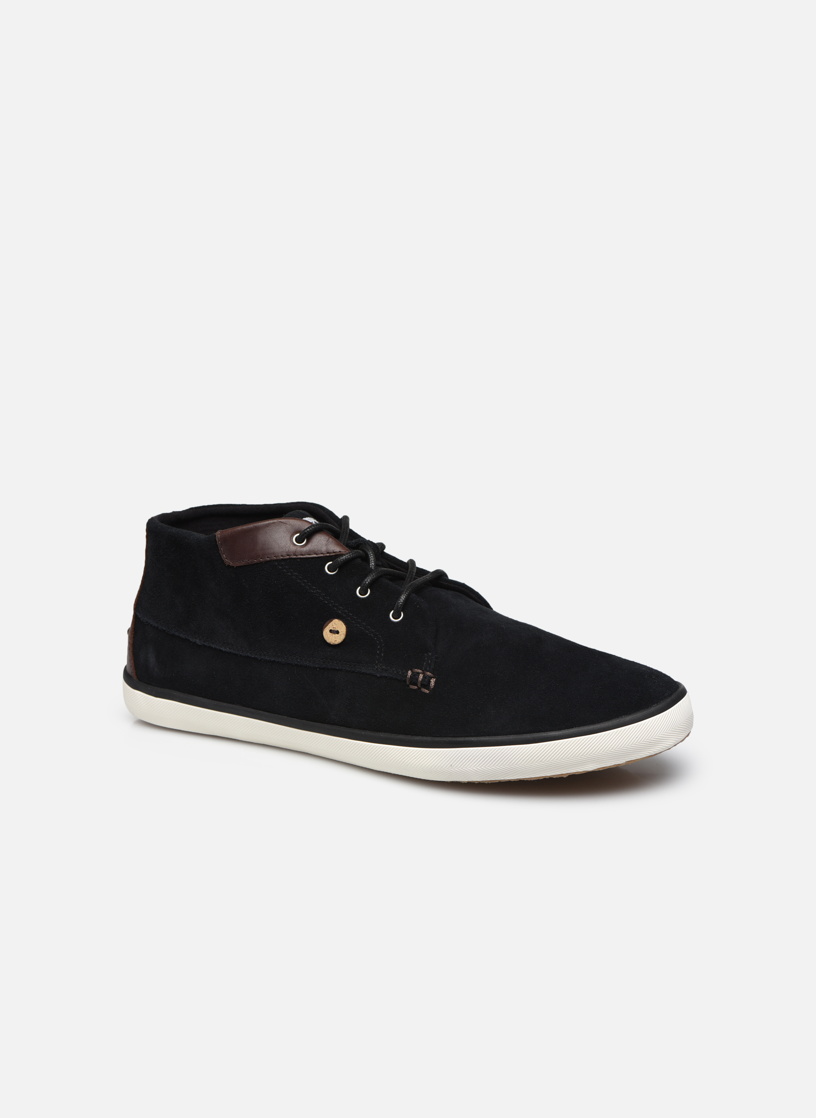 Trainers Faguo Wattle Suede Black detailed view/ Pair view