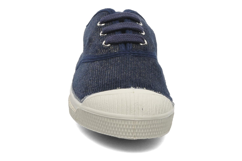 Baskets Bensimon Tennis Shinny E Bleu vue portées chaussures