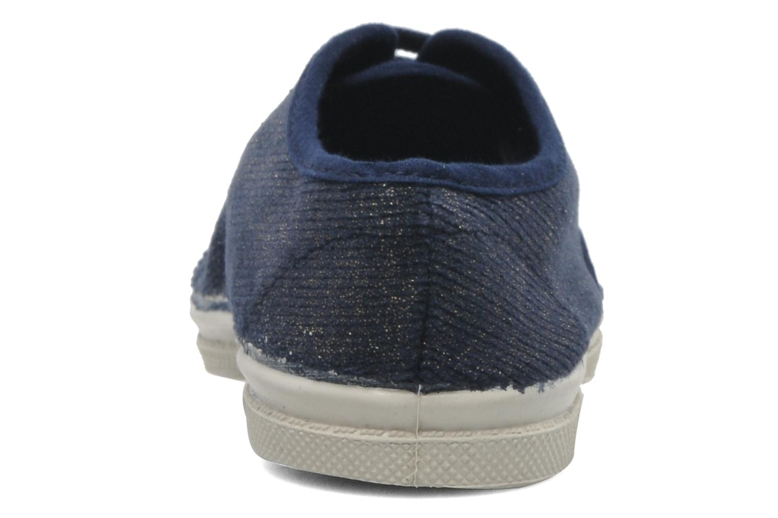 Trainers Bensimon Tennis Shinny E Blue view from the right