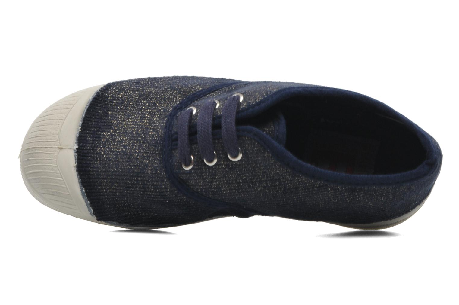 Trainers Bensimon Tennis Shinny E Blue view from the left