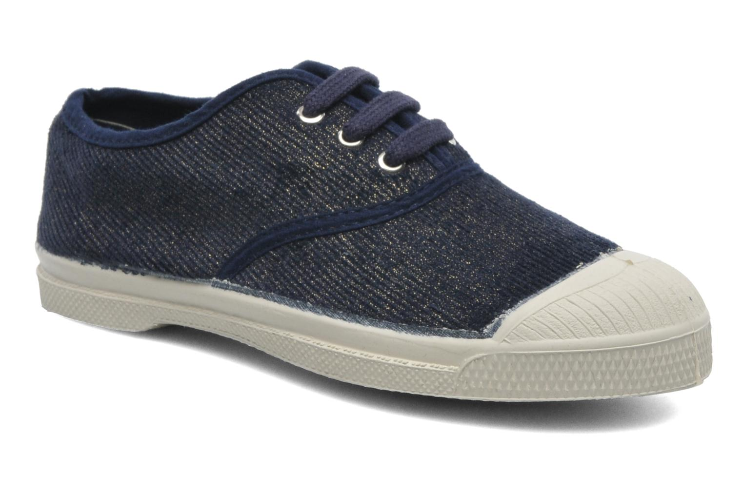 Trainers Bensimon Tennis Shinny E Blue detailed view/ Pair view
