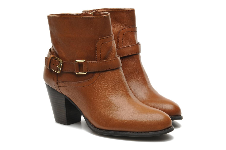 Ankle boots Lauren by Ralph Lauren MAEVE Brown 3/4 view