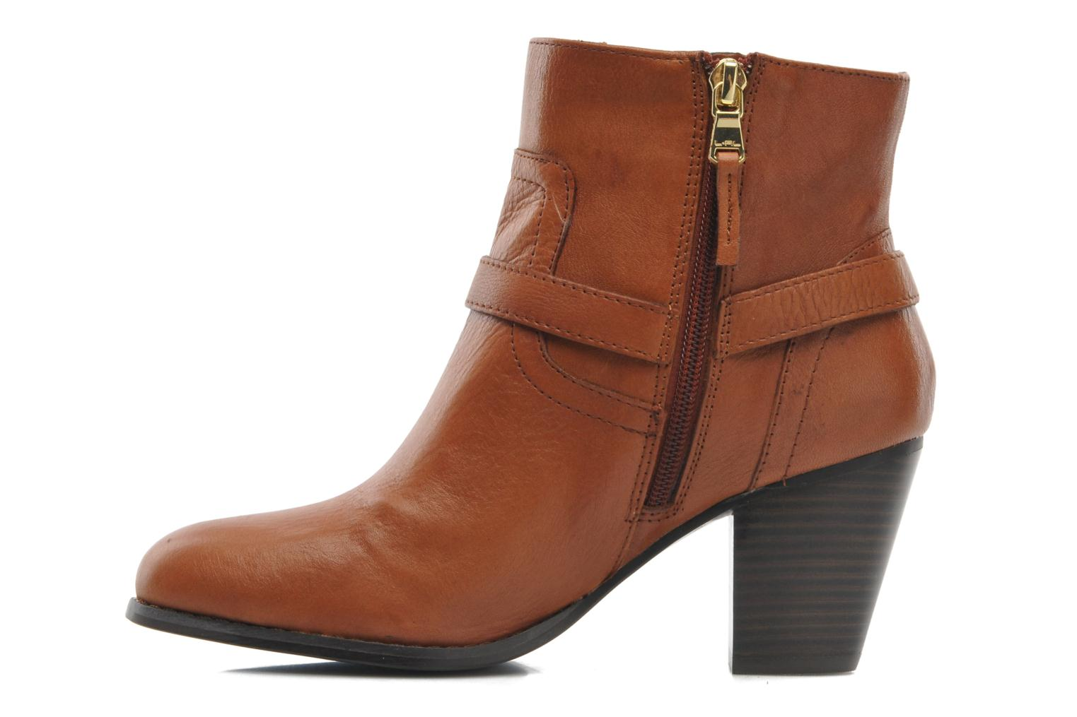 Ankle boots Lauren by Ralph Lauren MAEVE Brown front view