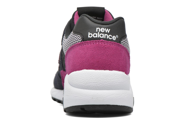Sneaker New Balance WRT580 schwarz ansicht von rechts