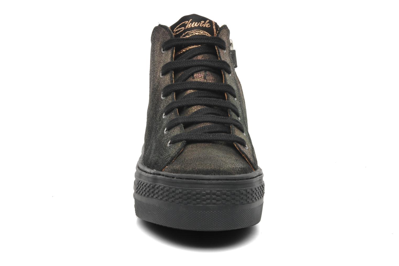 Baskets Shwik DELSA HI CUT Noir vue portées chaussures