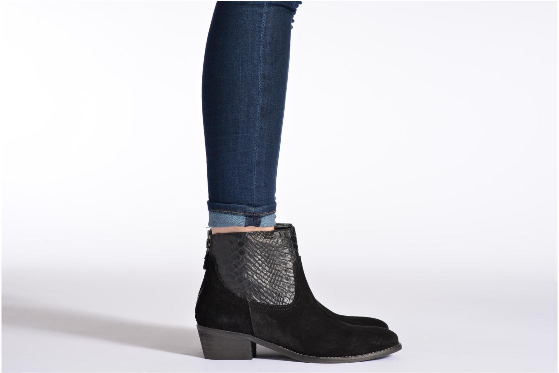 Bottines et boots Méliné Ydille Noir vue bas / vue portée sac