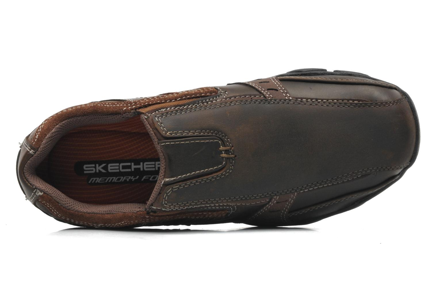 Trainers Skechers Diameter Garzo 62895 Brown view from the left