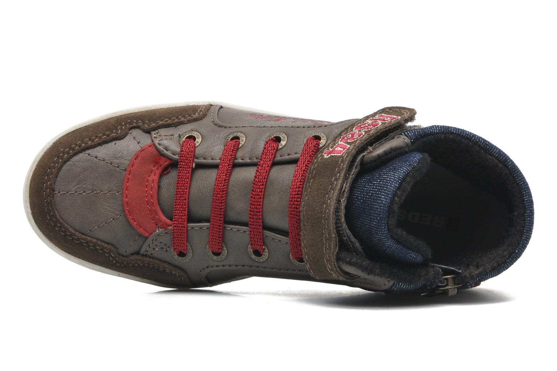 Sneaker Redskins Zigzagkid braun ansicht von links