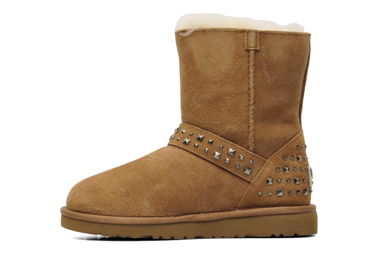 Boots en enkellaarsjes UGG K Blaise Studs Beige voorkant