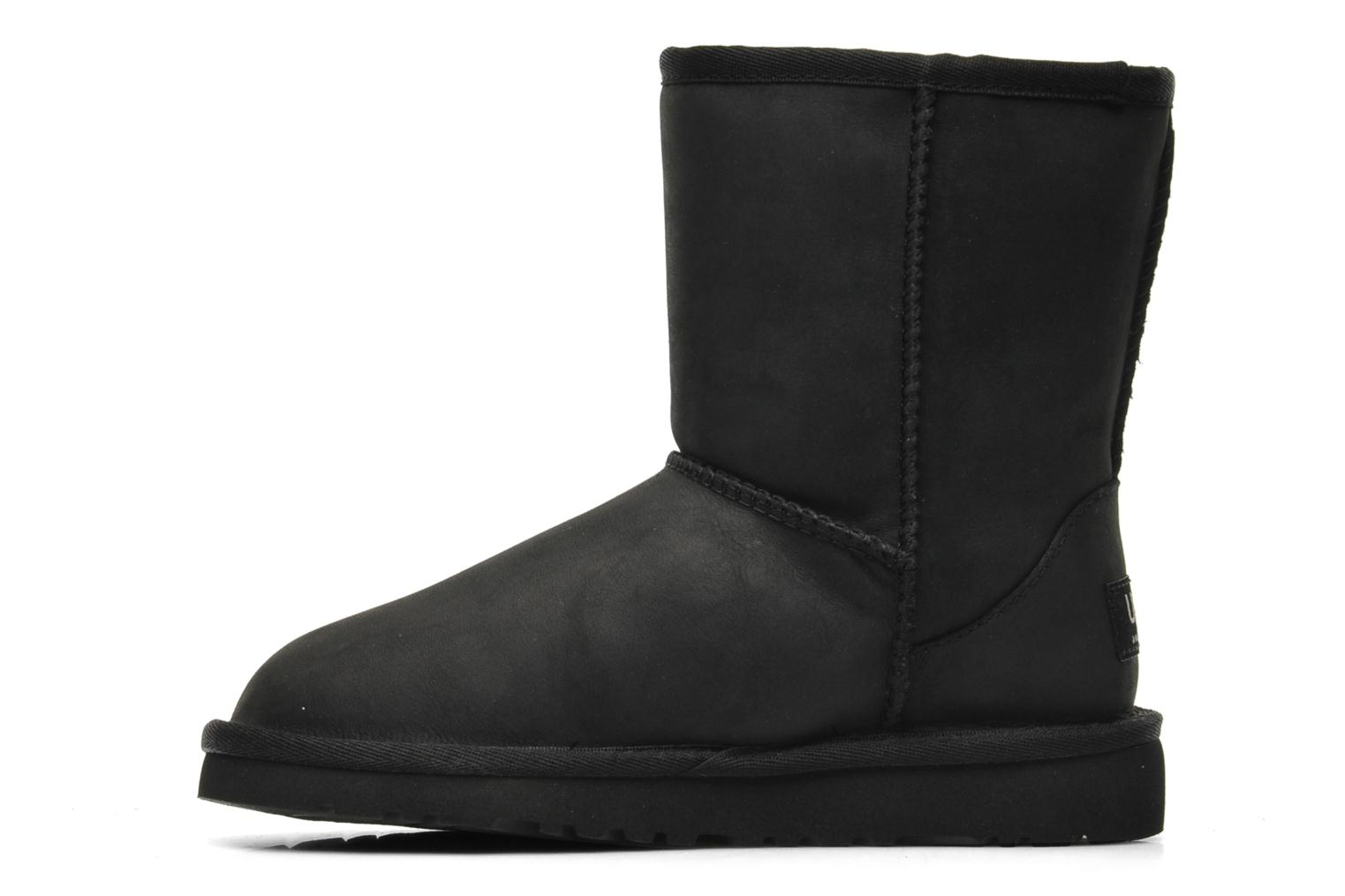 Laarzen UGG K Classic Short Leather Zwart voorkant