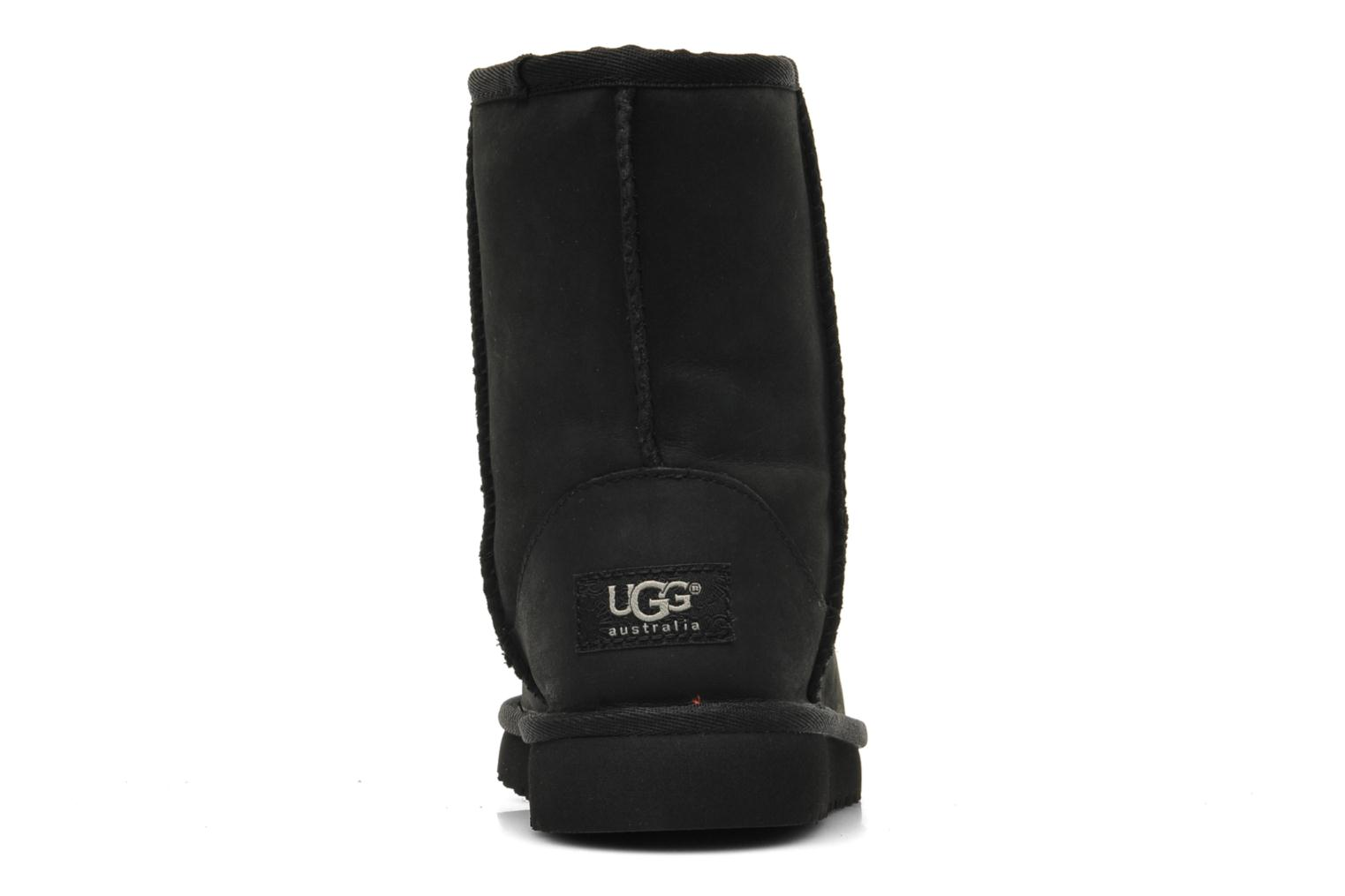 Laarzen UGG K Classic Short Leather Zwart rechts