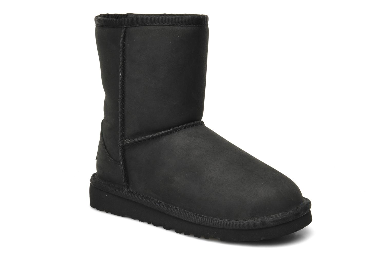 Laarzen UGG K Classic Short Leather Zwart detail