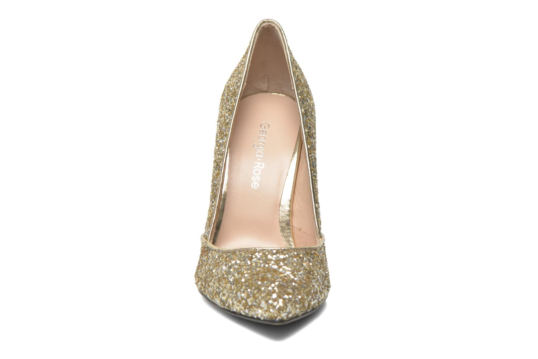 Zapatos de tacón Georgia Rose Fillotte Oro y bronce vista del modelo