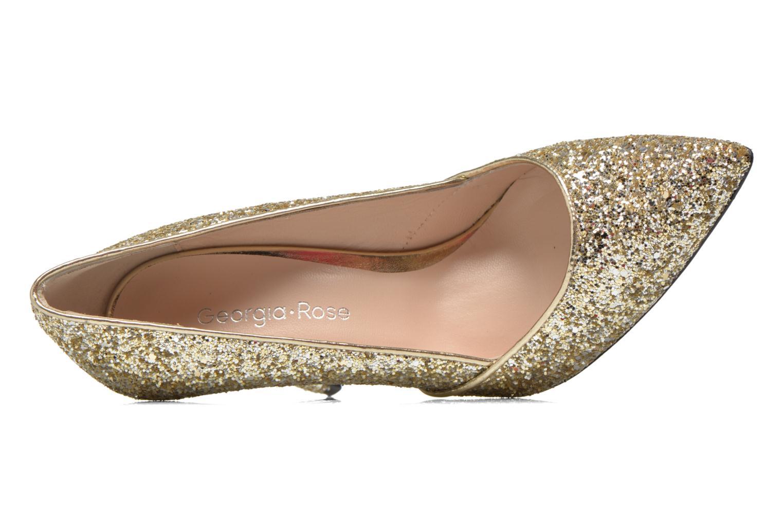 Zapatos de tacón Georgia Rose Fillotte Oro y bronce vista lateral izquierda