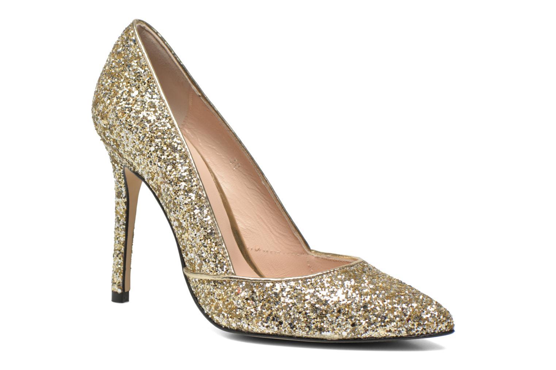 Zapatos de tacón Georgia Rose Fillotte Oro y bronce vista de detalle / par
