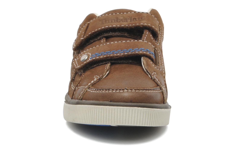 Baskets Timberland Eastham H L LTHR OX Marron vue portées chaussures