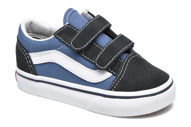 Baskets Vans Old Skool V BB Bleu vue détail/paire